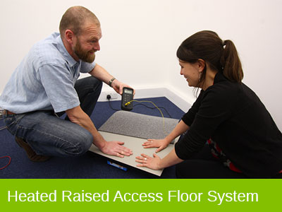 Heated Raised Access Floor System