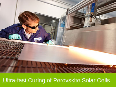 Ultra-fast curing of perovskite solar cells