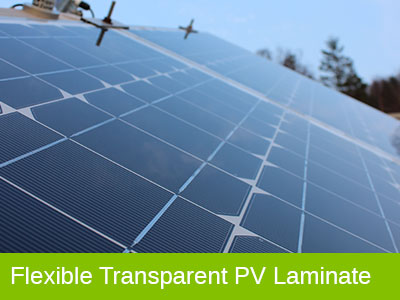 Flexible Transparent PV Laminate